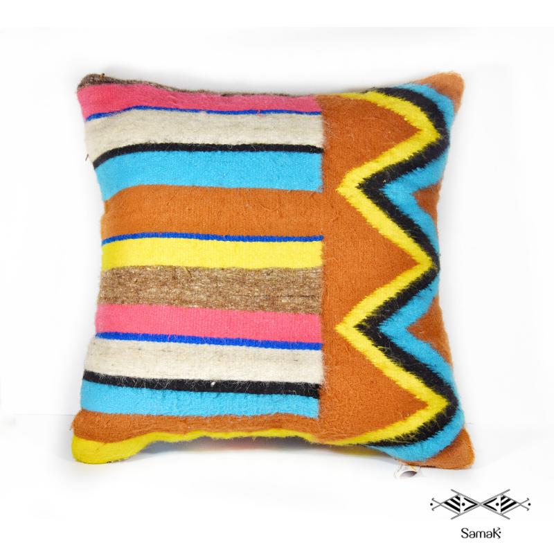 Coussin en laine Margoum