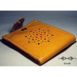 Portefeuille en cuir Sahraoui
