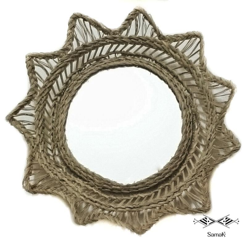 Miroir Soleil en Fibres Végétales Shems