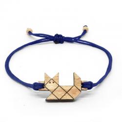 Bracelet en Bois SOZO| Chat Origami