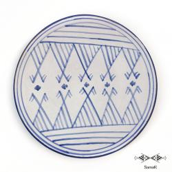 Assiette Plate en Céramique Samak