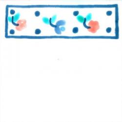 Frise Rose  - Carreaux de céramique