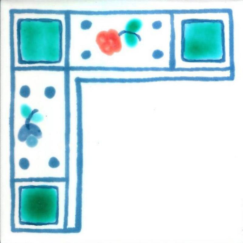 Rose - Coin - Carreaux de céramique