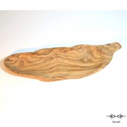 Plat en bois d'olivier Warka