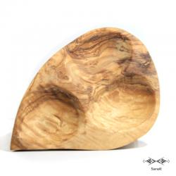 Plat apéritif en bois d'olivier Zitouna