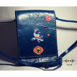 Sac Sabria Bleu motif Animaux