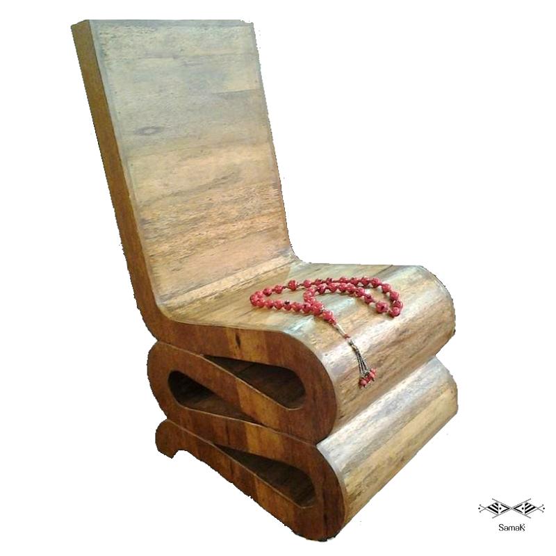 Chaise Design en bois de palmier Chebbi