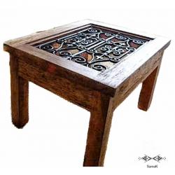 Table basse en bois de palmier Andalus
