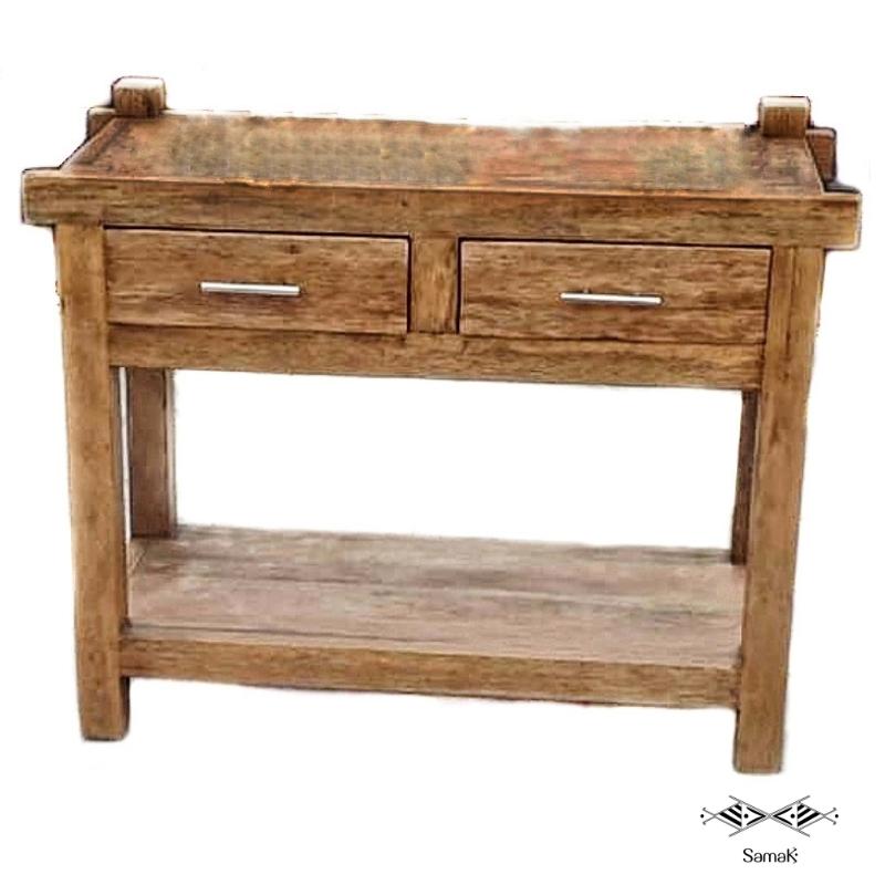 Table console en bois de palmier sur-mesure