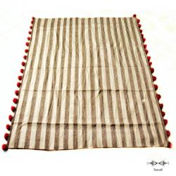 Couverture rayée en laine Nahla