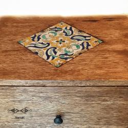 Chevet sur-mesure en bois de palmier Jerid