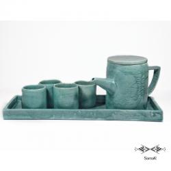 Service à thé en céramique...