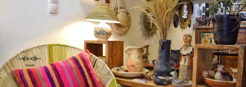 Objets déco~miroir,vase,carreaux,panier|Artisanat & Art de vivre|Samak