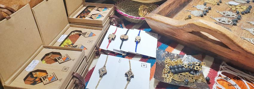 Bijoux Collier Bracelet Boucles d'Oreilles|Artisanat Tunisien|Samak