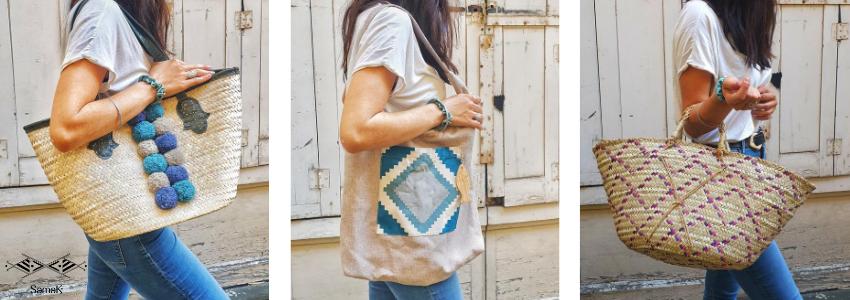 Sacs & paniers | Accessoires de mode | Artisanat Tunisien | Samak