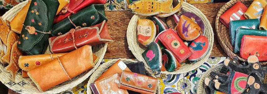 Pochettes & Trousses en Cuir & Coton | Artisanat Tunisien | Samak