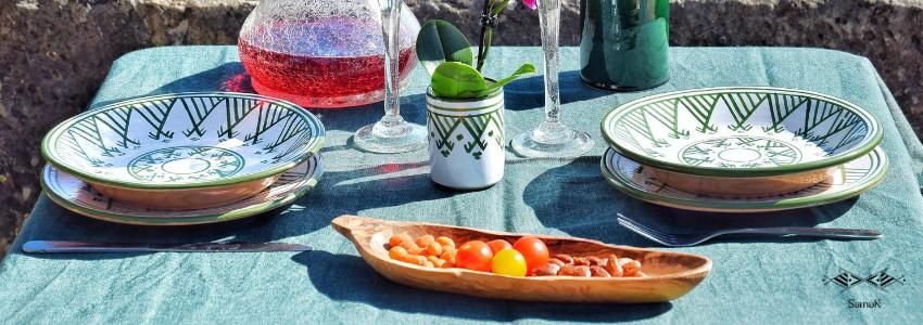 Assiettes | Arts de la Table | Artisanat Tunisien | Samak