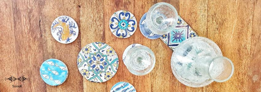 Plateaux & Dessous de plat | Artisanat Tunisien | Samak