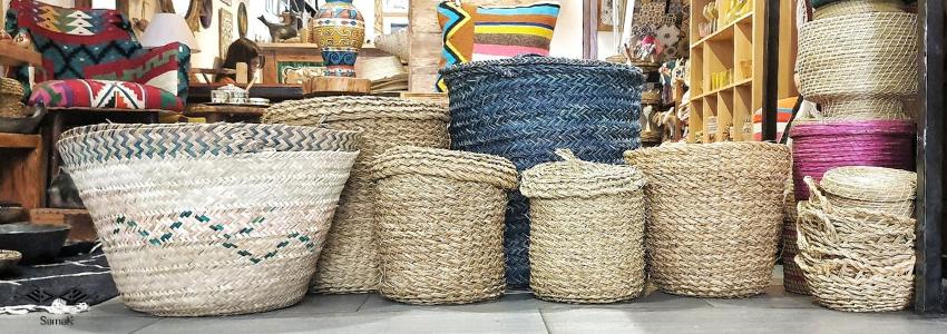 Paniers déco & Corbeilles en Fibres | Artisanat Tunisien | Samak