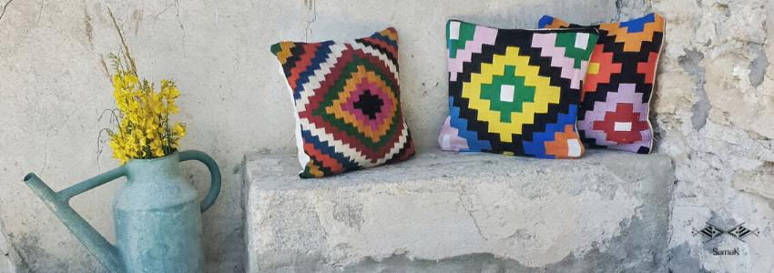 Coussins et Housses de coussins | Artisanat Tunisien | Samak