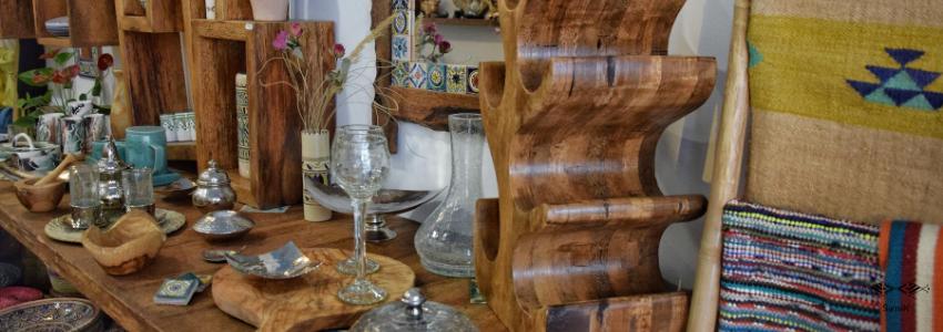 Bois d'olivier, Poterie Sejnane, Verre | Artisanat Tunisien | Samak