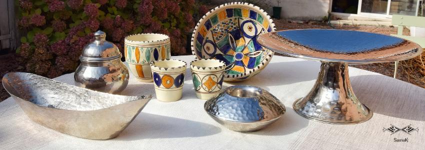 Objets déco en cuivre | Artisanat Tunisien | Samak