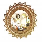 Samak vous souhaite une journée ensoleillée comme ce miroir en fibre végétale  🌞  #samakdeco #miroirsoleil #miroir #fibremood #decoberbere #artisanattunisien #boutiquedeco #eshop #lyon6 #lyoncity #onlylyon